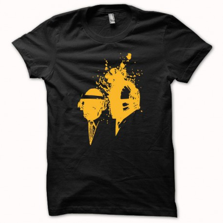 Tee shirt Daft Punk slim fit orange/noir
