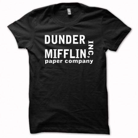 Tee shirt the office dunder mifflin  noir