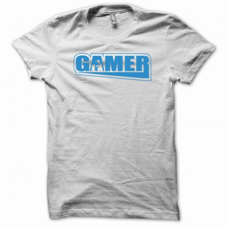 Tee shirt Gamer console paddle blanc