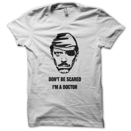 Tee shirt Parodie Dr Gregory House Hugh Laurie noir/blanc