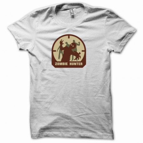 Tee shirt  zombie Hunter blanc