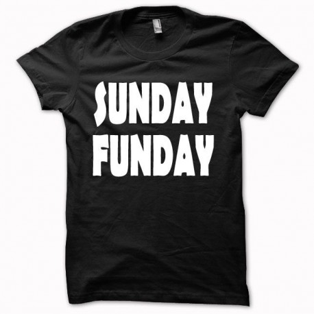 Tee shirt SUNDAY FUNDAY blanc/noir