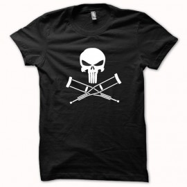 Punisher vs camisa Jackass blanco / negro