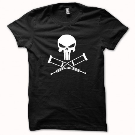 Tee shirt Jackass vs Punisher blanc/noir