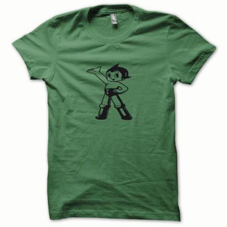 Tee shirt Astro noir/vert bouteille