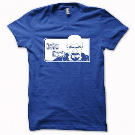 Camiseta Comunicar malas Heisenberg Vamos a cocinar blanco / azul