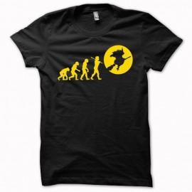 T-shirt Evolution Sorcière orange/black