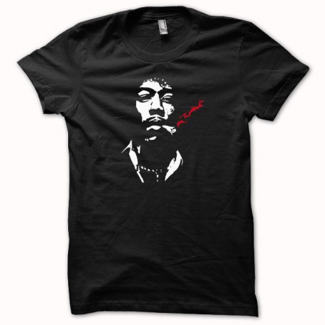 Tee shirt Jimi Hendrix blanc/noir