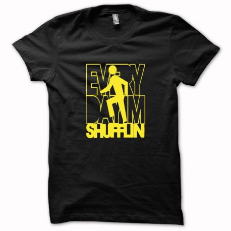 eed82617c T-shirt LMFAO Party Rock Anthem everyday i'm shufflin yellow on black