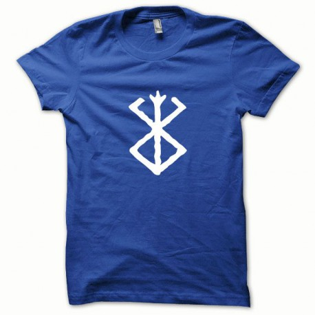 Tee shirt Berserk blanc/bleu royal