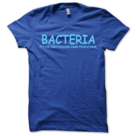 Shirt Bacteria microbes royal blue