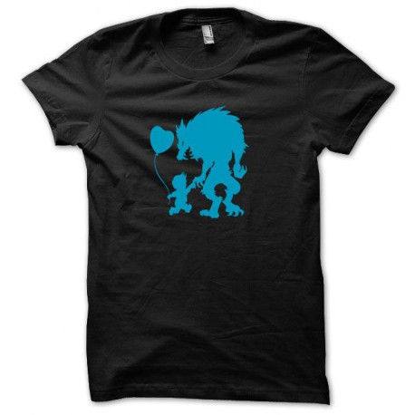 Tee shirt Monster baby bleu/noir