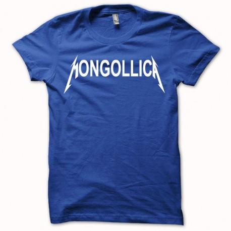 Tee shirt Mongollica parodie metallica bleu royal