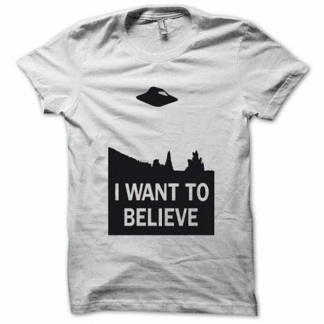 Camisa X-files Quiero creer negro / blanco