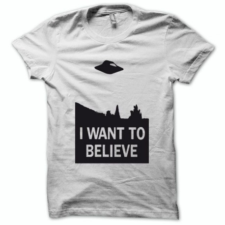 Tee shirt X-files i want to believe noir/blanc
