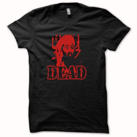 Tee shirt Oussama ben Laden dead أسامة بن محمد بن عوض بن لادن noir