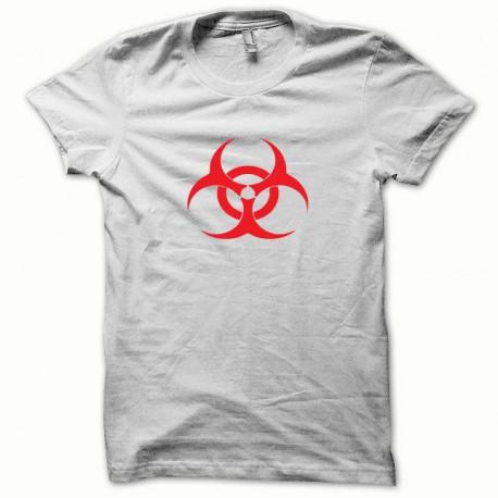 Tee shirt Biohazard rouge/blanc
