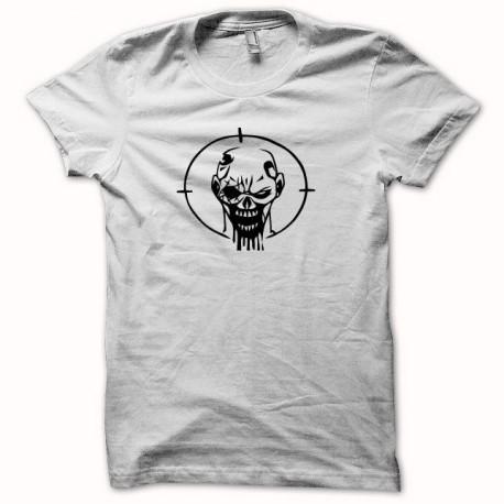 Tee shirt  zombie headshot blanc
