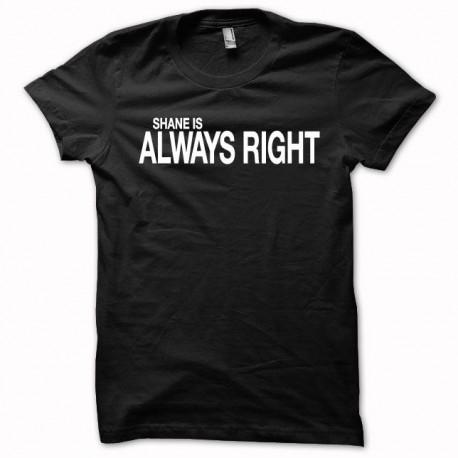 Camiseta The Walking Dead Shane blanco siempre tiene la razón / negro