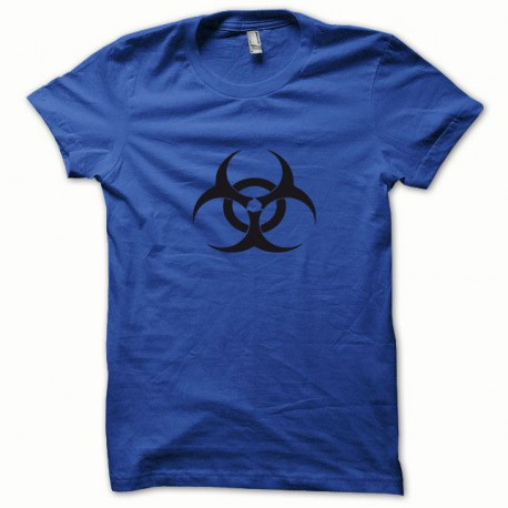Tee shirt Biohazard noir/bleu royal