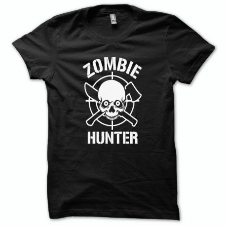 Tee shirt  zombie Hunter noir