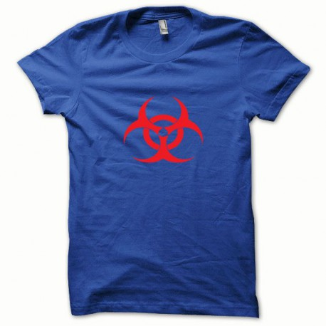 Tee shirt Biohazard rouge/bleu royal