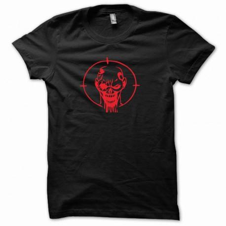camisa de color negro tiro en la cabeza zombi