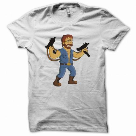 Camisa de la parodia Homer Simpson Chuck Norris blanco