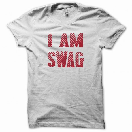 Tee shirt I am swag rouge/blanc