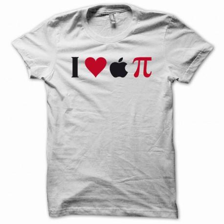 Tee shirt I love apple Pi noir/blanc