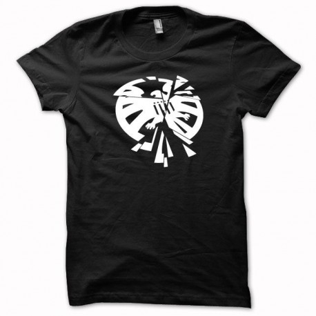 Tee shirt parodie The avengers the shield  blanc/noir
