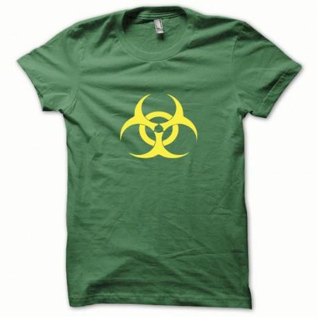 Tee shirt Biohazard jaune/vert bouteille