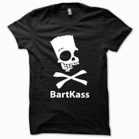 Tee shirt Parodie bart simpson jackass Bartkass blanc/noir