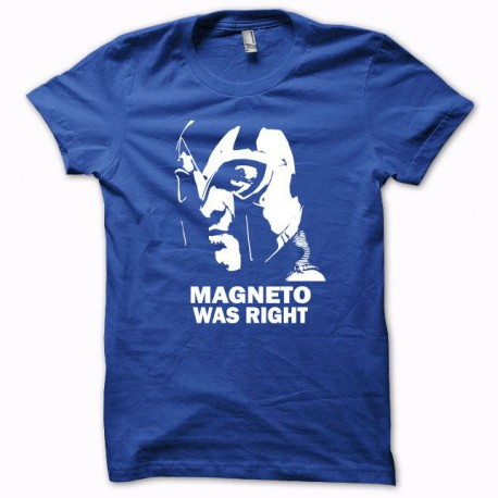 Tee shirt Magneto was right blanc/bleu royal