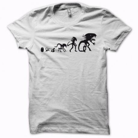 Tee shirt Alien xénomorphe Evolution noir/blanc