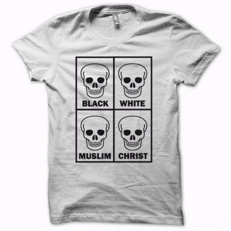 Tee shirt  Anti racisme tous égaux blanc