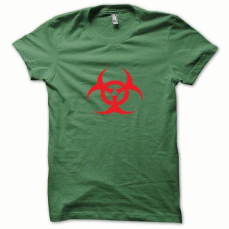 Tee shirt Biohazard rouge/vert bouteille