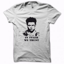 Tee shirt Fight Club in tyler we trust noir/blanc