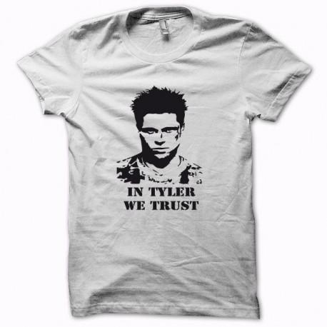 Tee shirt Fight Club in tyler we trust noir/blanc