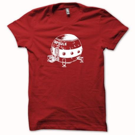 Tee shirt Capsule Corp Dragon ball blanc/rouge