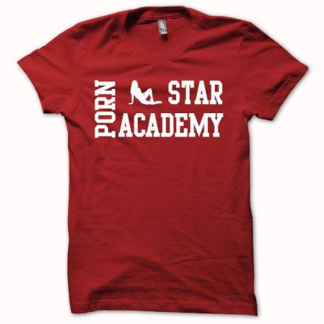 Tee shirt Porn Star Academy blanc/rouge