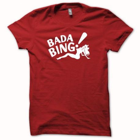 Tee shirt bada bing soprano blanc/rouge