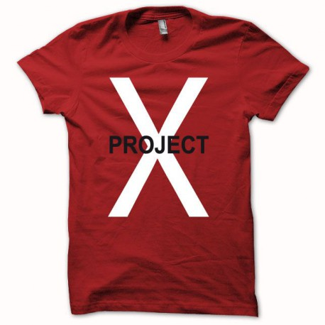 Tee shirt Project X  rouge