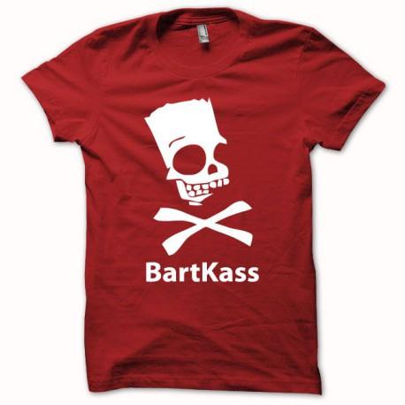 Tee shirt Parodie bart simpson jackass Bartkass blanc/rouge
