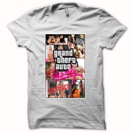 Tee shirt Grand theft auto vice city parodie blanc