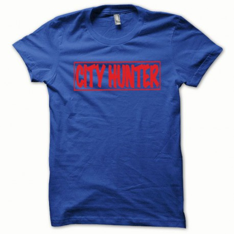 Tee shirt City Hunter rouge/bleu royal