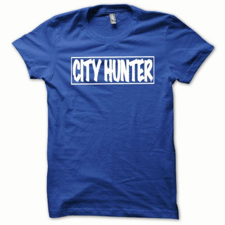 Tee shirt City Hunter blanc/bleu royal