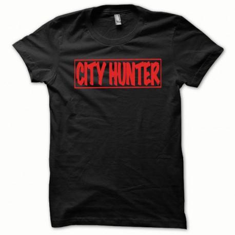 Tee shirt City Hunter rouge/noir