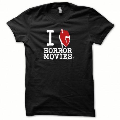 Tee shirt Serial Killer I LOVE HORROR MOVIES rougeNoir