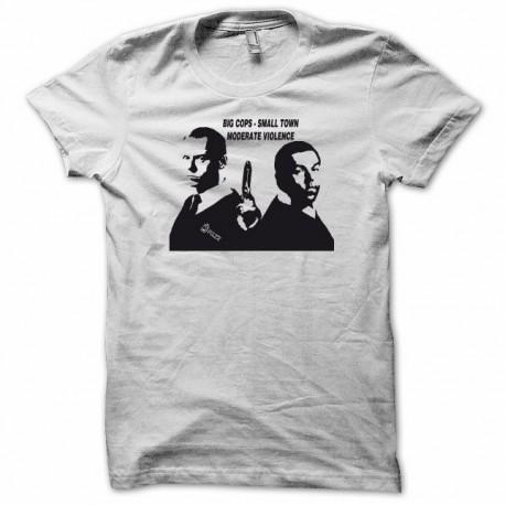 Tee shirt Hot Fuzz Superflic noir/blanc